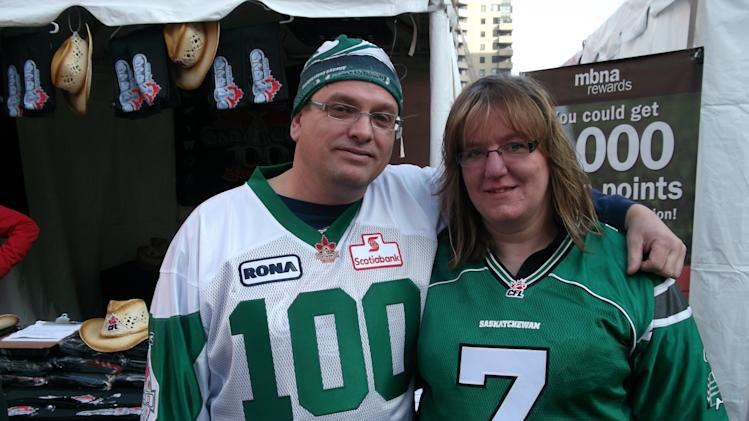 Roughrider fans celebrate 100th Grey Cup