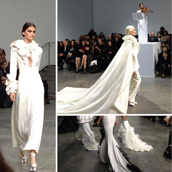 Kim Kardashian What an amazing Stephane Rolland show!!!! © Kim Kardashian / Instagram