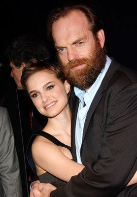 Natalie Portman and Hugo Weaving at the New York premiere of Warner Bros. Pictures' V for Vendetta