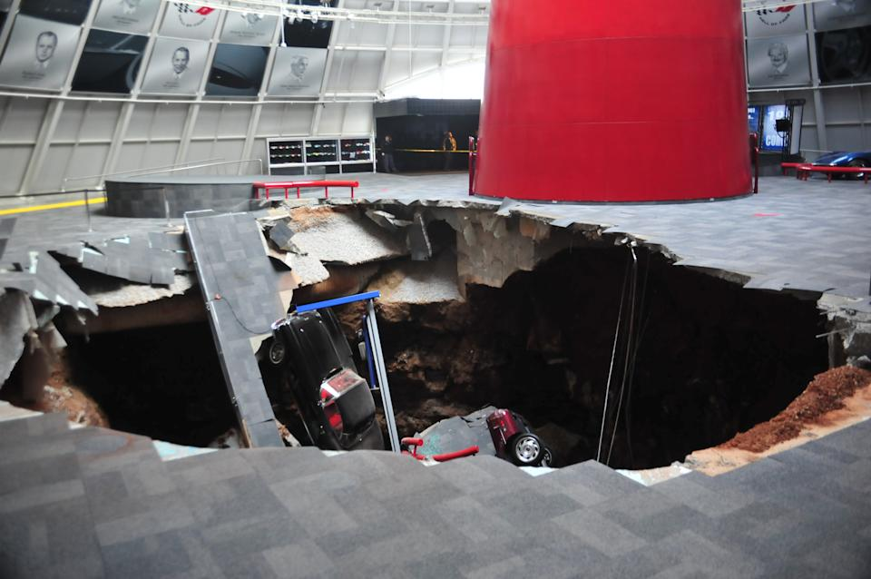 Sinkhole collapses part of Corvette Museum in Ky.
