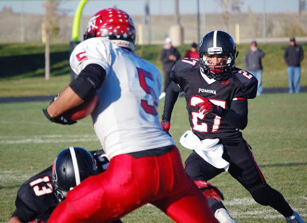 Chuck Pagano's nephew, Carlo Kemp, plays defensive end, linebacker, fullback and tight end for Fairview -- CHSAA