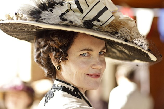 "Elizabeth McGovern stars as Lady Grantham in ""Downton Abbey."""
