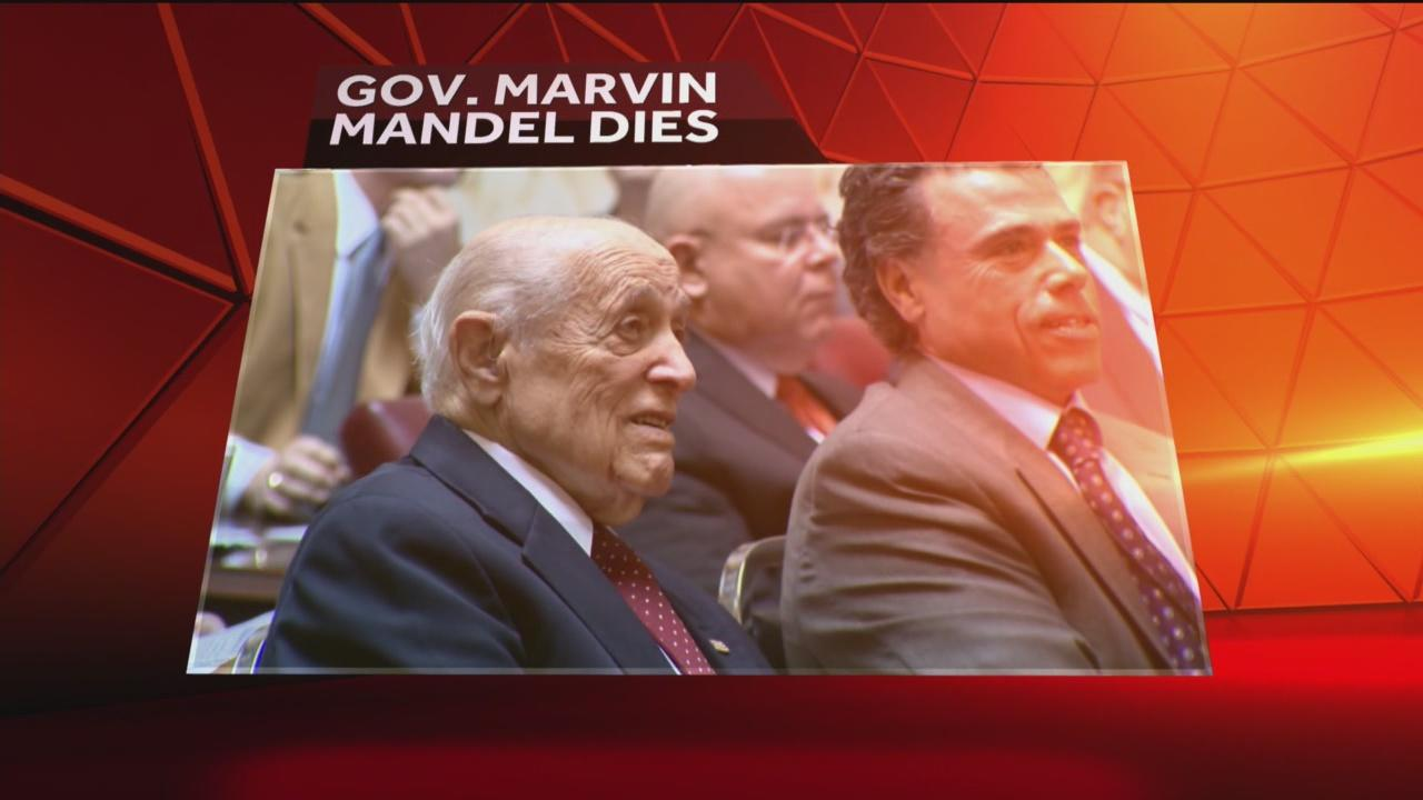Gov. Marvin Mandel, who fell from political grace, has died