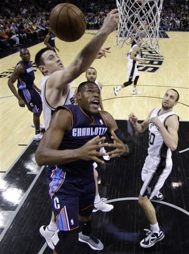 Spurs run win streak to 9 with win over Bobcats