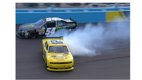 Tough break for Sam Hornish Jr.