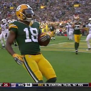 Green Bay Packers wide receiver Randall Cobb 1-yard TD catch