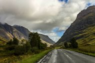 Driving Through The Scottish Highlands