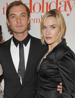 Jude Law and Kate Winslet at the New York premiere of Columbia Pictures' The Holiday