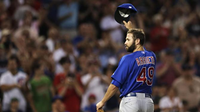 Arrieta tales no-hit bid into 8th for Cubs