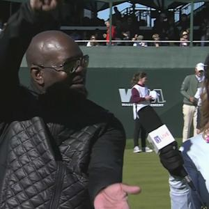 Emmitt Smith interview during pro-am at Waste Management