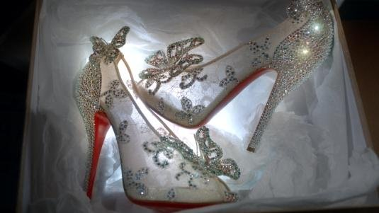 Christian Louboutin Unveils Cinderella Glass Slipper In Collaboration With Disney!