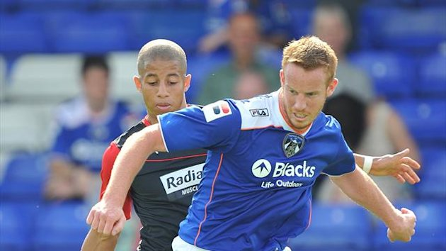 Oldham Athletic's Adam Rooney (PA Photos)