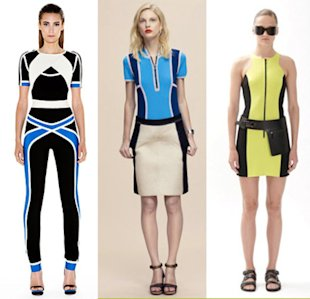 Scuba frocks straight from the runway.