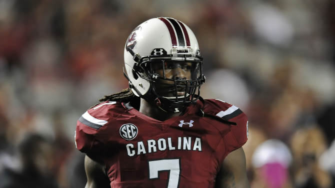Video: Gamecocks' Clowney tells officer he is late