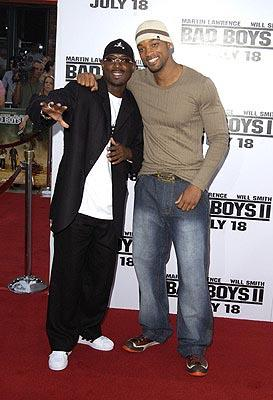 Martin Lawrence and Will Smith at the LA premiere of Columbia's Bad Boys II