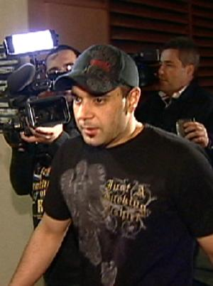 """FILE - In this Jan. 31, 2008 video frame grab release by AP Television, manager Sam Lutfi leaves UCLA medical center after visiting Britney Spears in Los Angeles. A California appeals court has rejected a bid by Britney Spears' mother Lynne to have a defamation claim filed by Lutfi thrown out. Lutfi sued Spears and her mother, Lynne, for libel and defamation in February 2009. The case cited numerous passages from Lynne Spears' book, """"Through the Storm,"""" in which she accused Lutfi of drugging and controlling her daughter. (AP Photo/APTN, file)"""