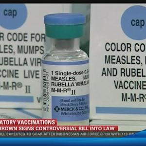 Gov. Jerry Brown signs strict school vaccine legislation