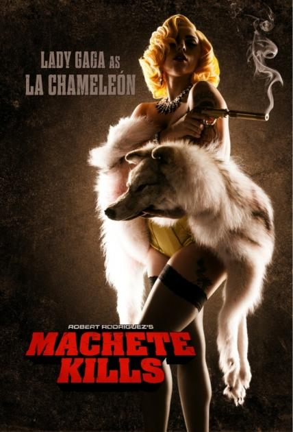 Lady Gaga seen in a poster for 'Machete Kills' --