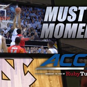 UNC's Brice Johnson Flies High For Alley-Oop Dunk | ACC Must See Moments