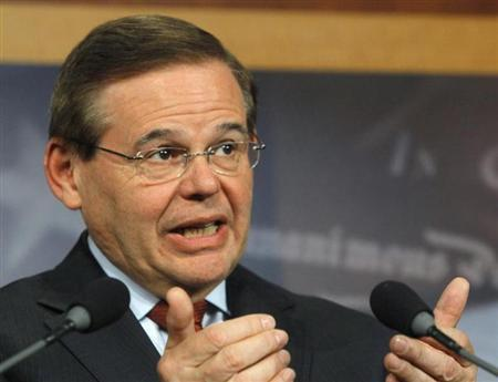 U.S. Senator Menendez attends news conference at Capitol on immigration reform in Washington