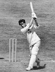 Pataudi in action for Oxford against Surrey, June 1961.