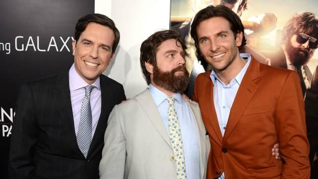 Ed Helms, Zach Galifianakis, and Bradley Cooper arrive at the premiere of Warner Bros. Pictures' 'Hangover Part 3' on May 20, 2013 in Westwood, Calif. -- Getty Images