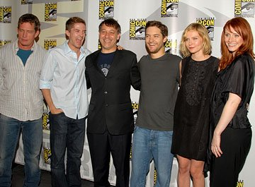 Thomas Haden Church, Topher Grace, Sam Raimi, Tobey Maguire, Kirsten Dunst and Bryce Dallas Howard