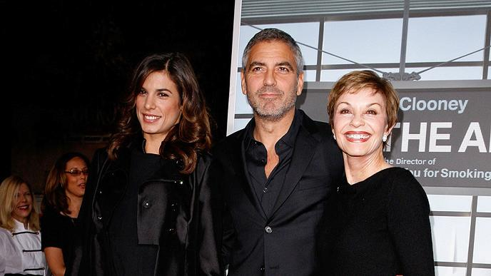 Up in the Air LA Premiere 2009 Elisabetta Canalis George Clooney