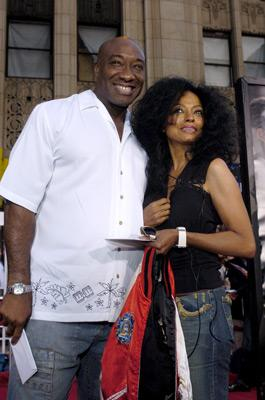 Michael Clarke Duncan and Diana Ross at the LA premiere of Dreamworks SKG's Collateral -2004 Photo: