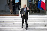 French Defence Minister Jean-Yves Le Drian, pictured on June 6, arrived in Afghanistan on Sunday hours after an attack that killed four French soldiers and an announcement that the nation would begin withdrawing troops in July