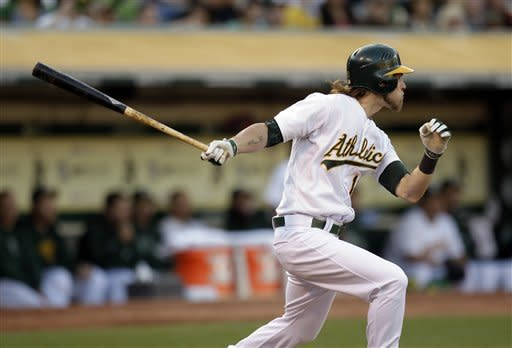 Cespedes, Colon lift A's past Indians