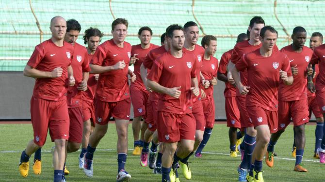 Soccer: World Cup Qualifying-USA Mens Team Training