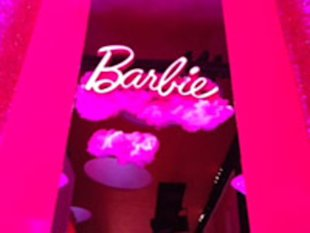 An installation at Lincoln Center allows Barbie fans to step into her pink bejeweled closet.