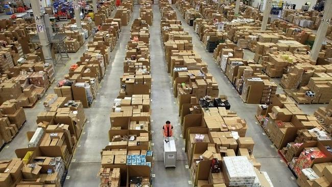 An inside look at an Amazon warehouse