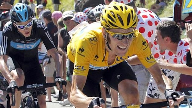 Bradley Wiggins on his way to Tour de France glory