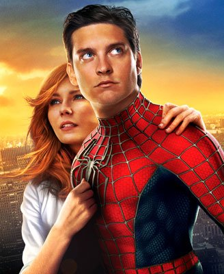 Kirsten Dunst as Mary Jane Watson and Tobey Maguire as Peter Parker in Columbia Pictures' Spider-Man 3