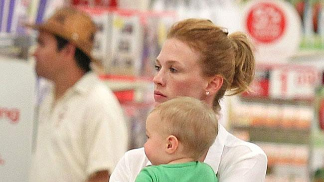 January Jones takes son Xander on a trip to Target in West Hollywood