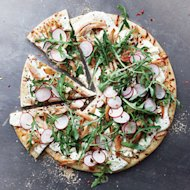 20-Minute Recipe: Chicken, Arugula, and Radish Pizza
