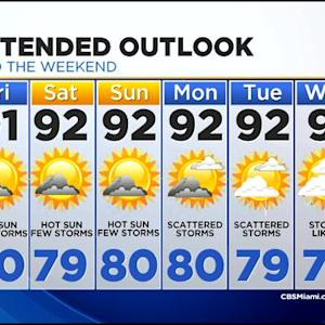 CBSMiami.com Weather @ Your Desk 7/24 11:30 p.m.