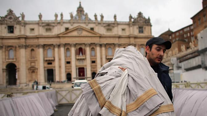 Preparations Are Made For Pope Francis' Inauguration Mass