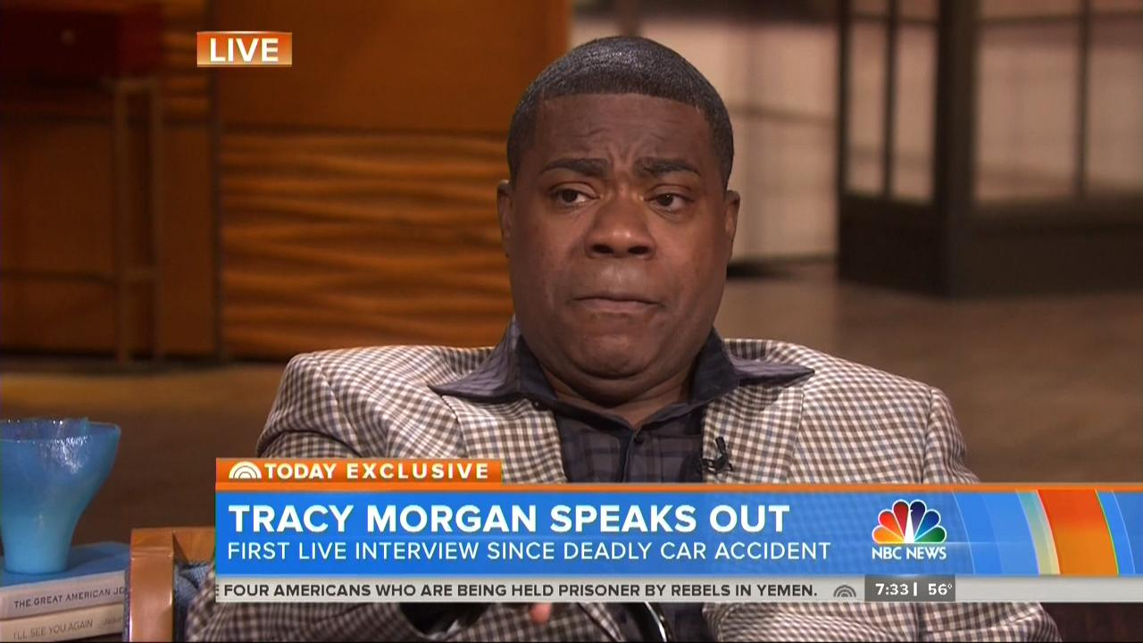 Tracy Morgan Sheds Tears During First Public Appearance: 'I'm Not 100 Percent Yet'