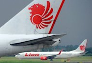 A Lion Air airplane lands at Sukarno Hatta airport in Tangerang in February 2012. US aerospace giant Boeing confirmed a commitment from Indonesia&#39;s Lion Air to buy five 787-8 Dreamliners for its new subsidiary