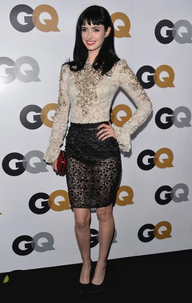 Krysten Ritter: Is Ritter trying to copy Kristen Stewart's vampy lacy look? The actress wows in a sexy Dolce & Gabbana ensemble with a cream blouse that features red and gold embelishments and a sheer black lace skirt. But those puff sleeves are so '90s! (Photo by Alberto E. Rodriguez/Getty Images)