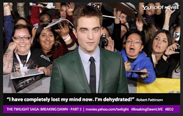 "Robert Pattinson at the premiere of ""The Twilight Saga: Breaking Dawn - Part 2"""