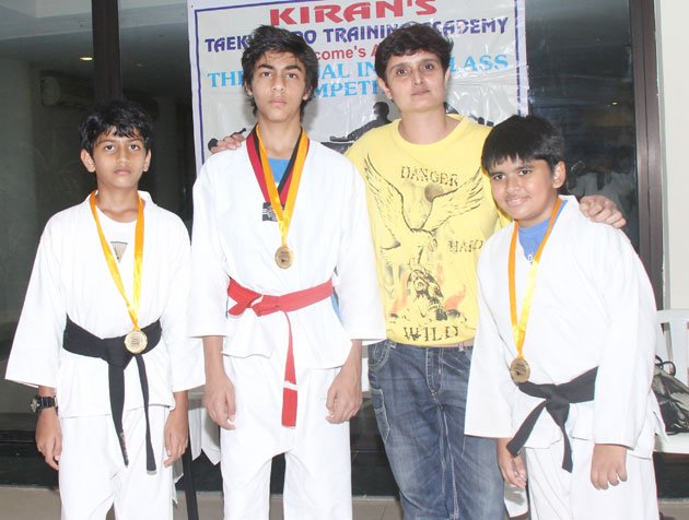 Aryan gets black belt in Taekwondo