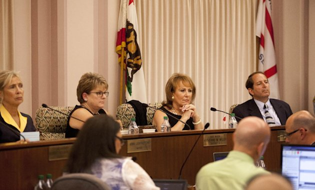Members of the Stockton City Council listen to citizen statements Tuesday, June 26, 2012, in Stockton, Calif. Stockton officials continue to grapple with the city&#39;s financial plight, struggling to restructure millions of dollars of debt threatening to turn the city with the nation&#39;s second highest foreclosure rate into the largest American city to file for bankruptcy. (AP Photo/Ben Margot)