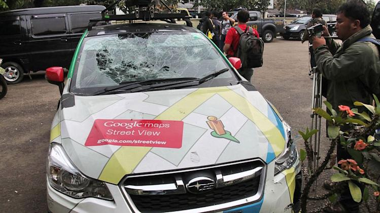 Google Street View Car Smashes Into Three Different Vehicles in One Day
