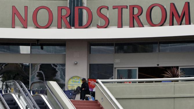 This Feb. 15, 2012 photo, shows a Nordstrom Rack store at The Promenade at Howard Hughes Center in Los Angeles. Nordstrom Inc. reports quarterly financial results Thursday, Feb. 16, after the market close. (AP Photo/Damian Dovarganes)