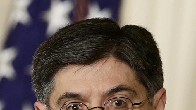 Jack Lew, the current White House chief of staff, speaks in the East Room of the White House in Washington, Thursday, Jan. 10, 2013, where President Barack Obama announced Lew as his nominee as the next Treasury Secretary. (AP Photo/Charles Dharapak)