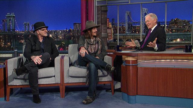 David Letterman - Johnny Depp & Bill Carter